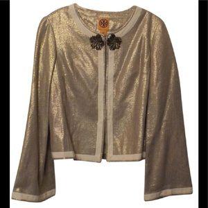 Tory Burch NEW Stunning Metallic LIght Jacket